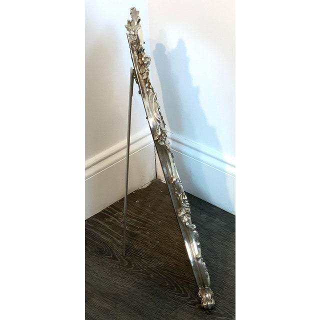 Silver French Silver Plated Dressing Mirror For Sale - Image 8 of 12