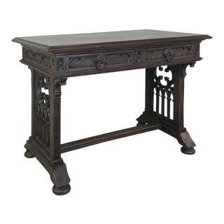 19th Century French Gothic Writing Table For Sale