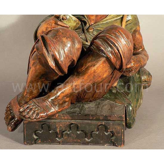 Wood Gorgeous Wooden Carved Arab Vienna Ca. 1900 For Sale - Image 7 of 9