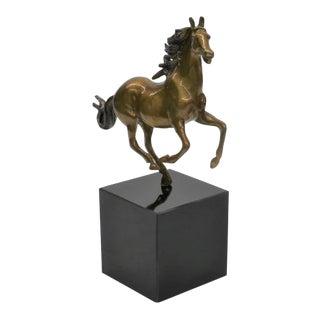 1990s Horse Bronze Sculpture For Sale