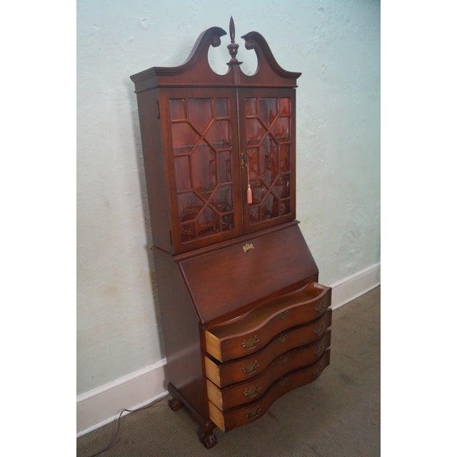 Vintage Jasper Cabinet Mahogany Chippendale Style