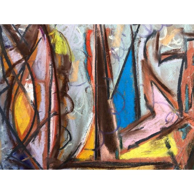 """Astro City"" as an artists interpretation of a futuristic city. Original Pastel by Erik Sulander (custom framing available..."