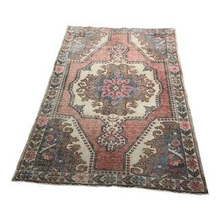 Genuine Hand Woven Turkish Oriental Wool Rug - 4′6″ × 7′6″