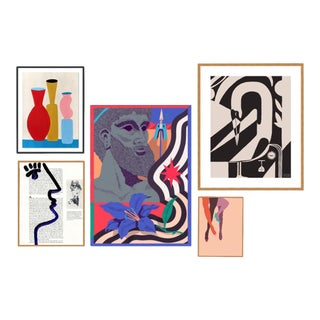 Delphi Gallery Wall, Set of 5 For Sale
