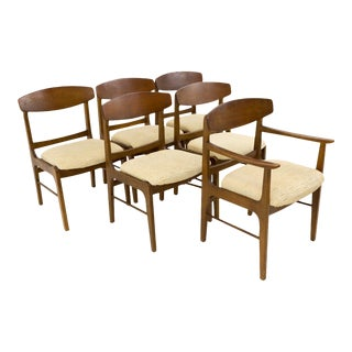 Mid-Century Modern Stanley Dining Chairs - Set of 6 For Sale