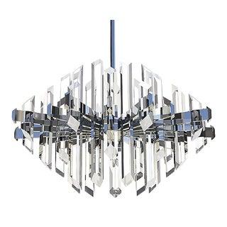 Modern Molded Optical Acrylic Facets Diamond Chandelier For Sale