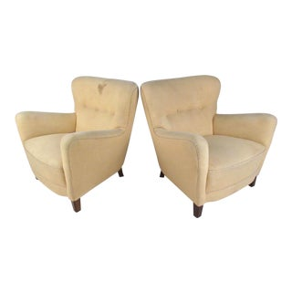 Pair Vintage Deco Lounge Chairs