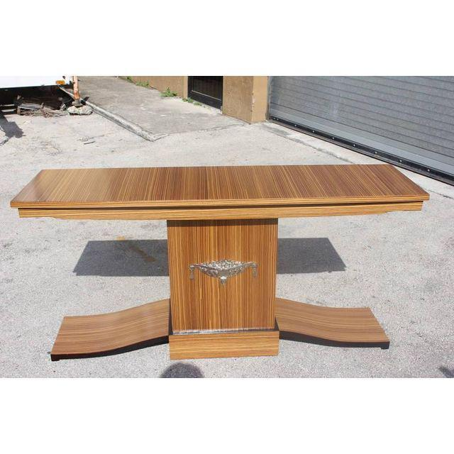 French Art Deco Macassar Ebony Console Table - Image 3 of 10