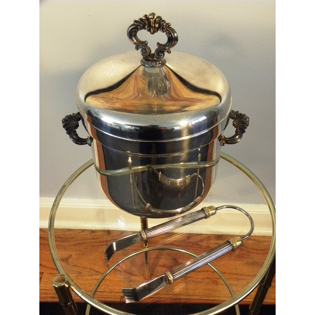 Vintage FB Rogers Silver Co. Ice Bucket W/ Tongs - Image 3 of 6