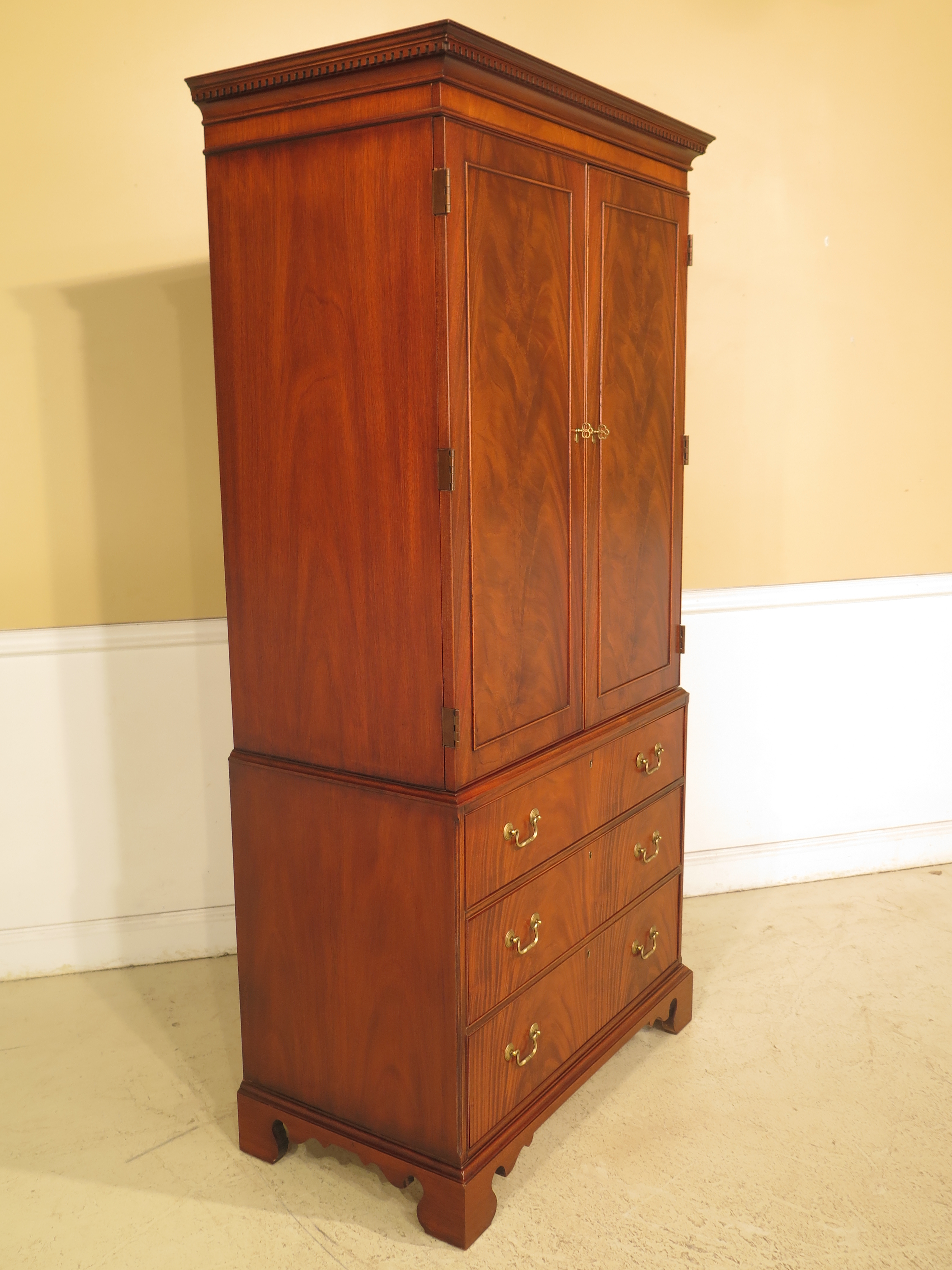 Hickory Chair Co. Mahogany Armoire Bedroom Chest   Image 10 Of 13