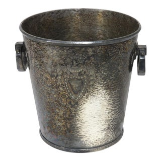 1920s American Art Deco Silver Plate Champagne Bucket For Sale