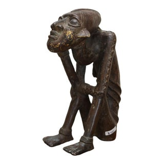 African Bronze Statue of the King of Banbara For Sale