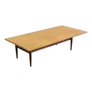 Richardson / Nemschoff Coffee Table with Drop-Leaf For Sale