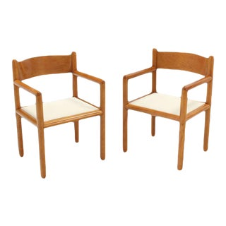Mid Century Modern Chairs With Sculpted Plywood Back - Set of 6 For Sale