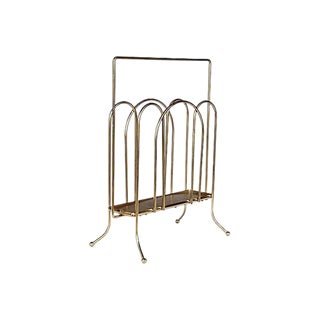 1960s Square Handled Magazine Rack For Sale