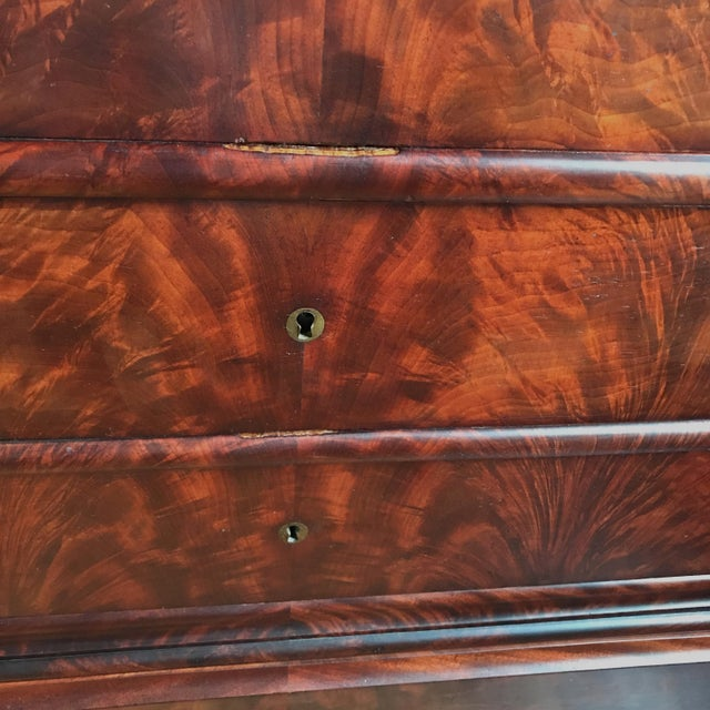 Late 19th Century 19th Century Louis Philippe Mahogany Commode For Sale - Image 5 of 11