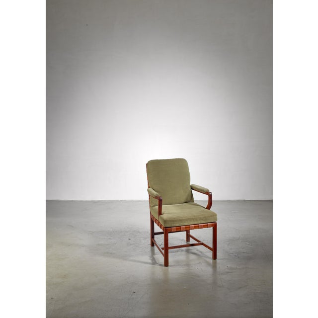 A very rare armchair by Austrian architect and designer Walter Sobotka (1888-1972). The chair is made of wood with a...