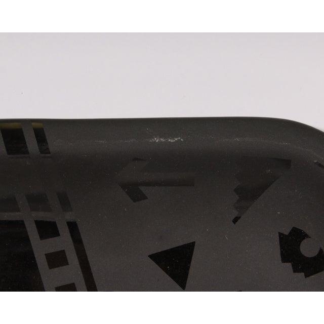 Stephen Fabrico Signed Postmodern Black on Black Ceramic Tray For Sale - Image 4 of 8