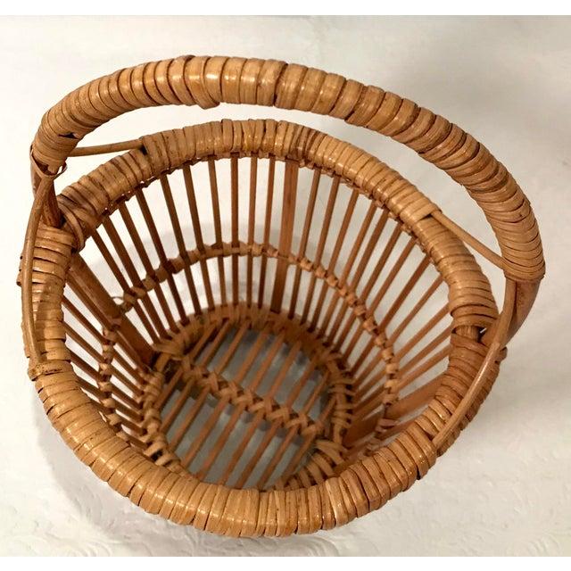 Mid 20th Century Vintage Handled Basket For Sale - Image 5 of 7