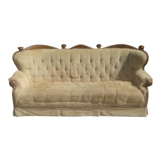 Victorian 1920s Tufted Sofa For Sale