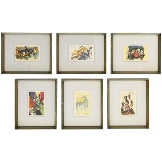 Framed Animal Prints by Franz Marc, Set of 6
