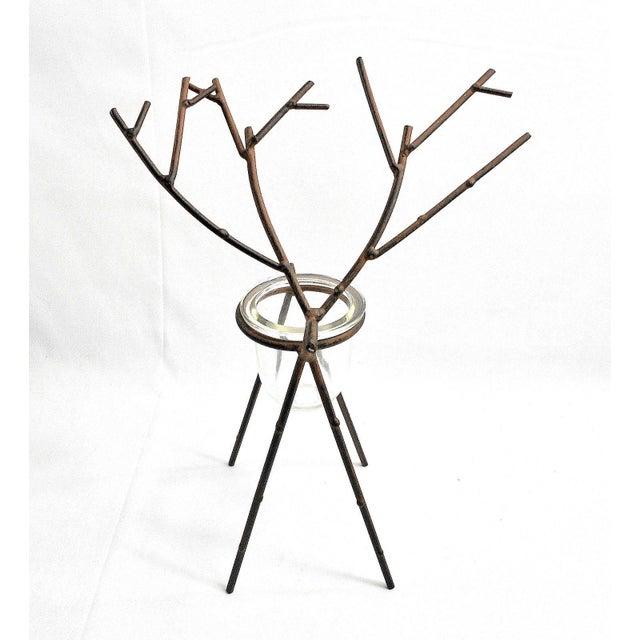Deer Figure Votive Candle Holder For Sale - Image 5 of 8