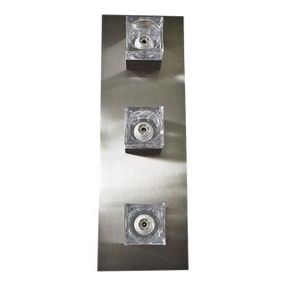 Sciolari Nickel Sconces or Flush Mounts For Sale