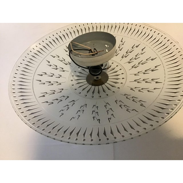 White Mid 20th Century Abstract Ceiling Light Fixture For Sale - Image 8 of 10
