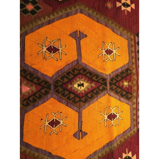 Vintage Turkish Kilim Rug- 5' x 12' - Image 5 of 10
