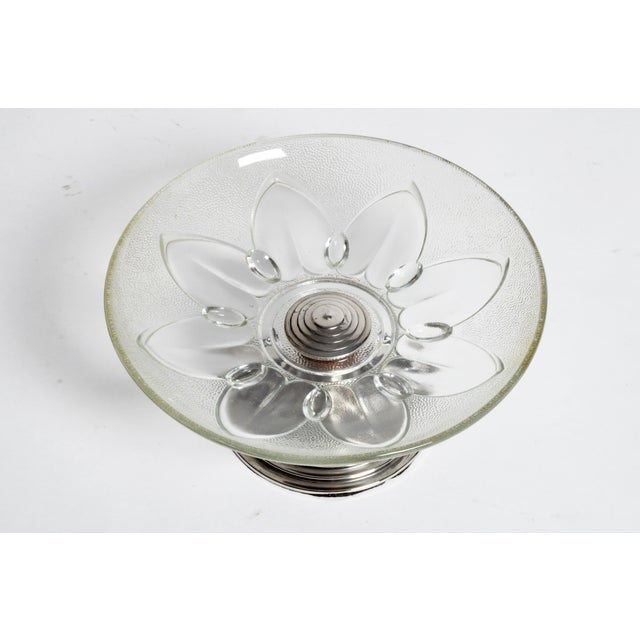 Mid-Century Modern Glass Candy Dish For Sale - Image 3 of 10