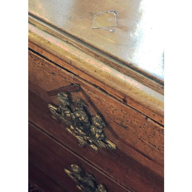 18th Century French 18th Century Walnut Commode For Sale - Image 5 of 9