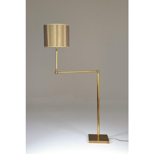 20th Century French Brass Floor Lamp, 1960's For Sale - Image 4 of 12