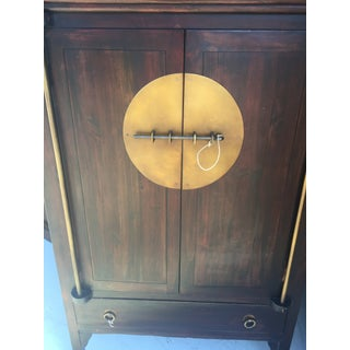 Asian Armoire With Brass Trim Cabinet Tansu Preview