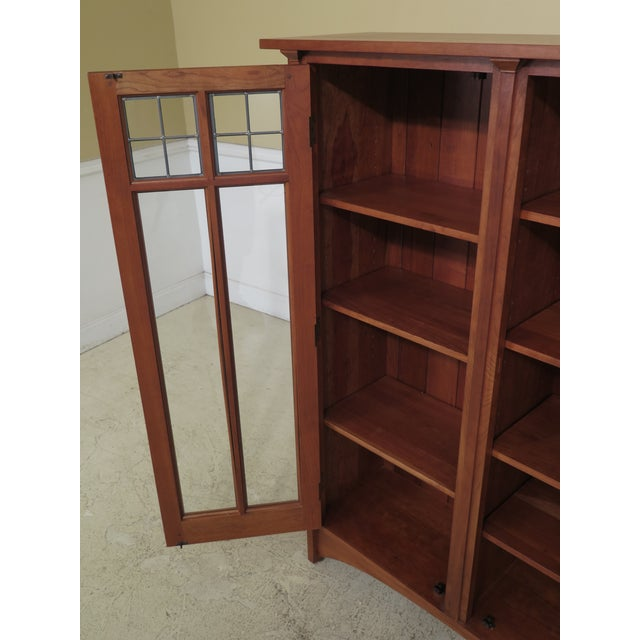 Stickley Mission Cherry Leaded Glass 2 Door Bookcase For Sale - Image 10 of 13
