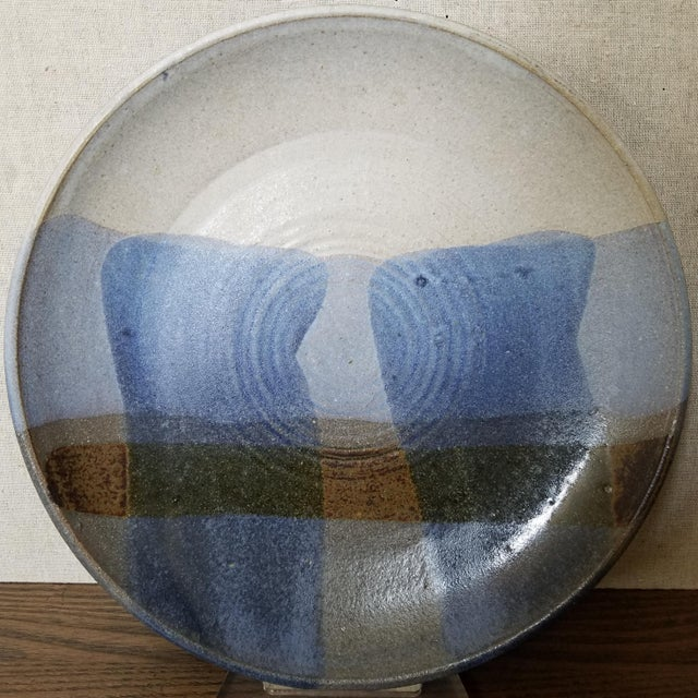 Studio Pottery Signed Wall Art Plate For Sale In Dallas - Image 6 of 6
