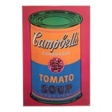 "Image of Andy Warhol Foundation Rare Vintage 1993 Lithograph Print Pop Art Poster "" Campbells Tomato Soup Can "" 1968 For Sale"