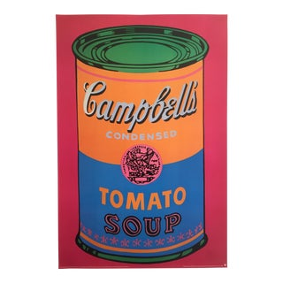 "Andy Warhol Foundation Rare Vintage 1993 Lithograph Print Pop Art Poster "" Campbells Tomato Soup Can "" 1968 For Sale"