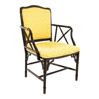 McGuire Style Mid Century Bamboo Occasional Chair For Sale