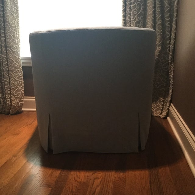 Baker Furniture Upholstered Lounge Chairs & Ottoman - Image 5 of 6