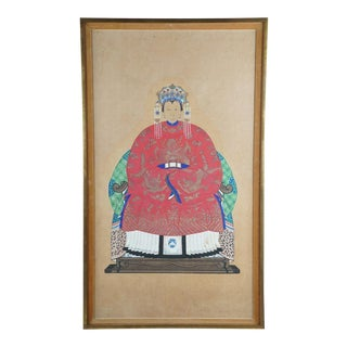 Framed Chinese Ancestral Portrait Print For Sale