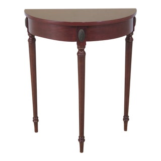 Bombay Co. Regency Style Cherry Demi-Lune Hall Table For Sale