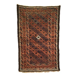 Antique Afghan Baluch Small Rug 2'9 X 4'2 For Sale