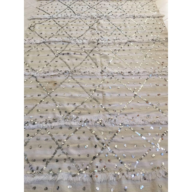 Moroccan Wedding Berber Blanket For Sale - Image 4 of 10