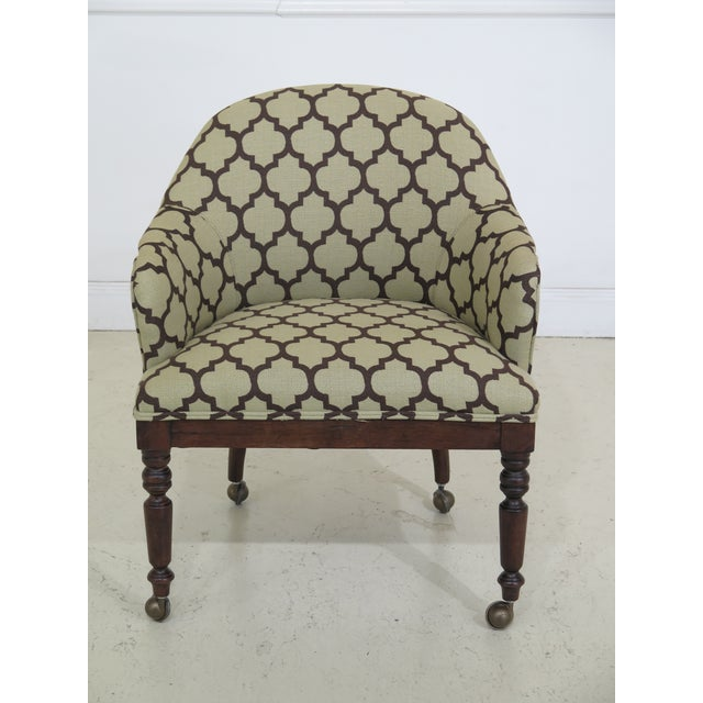 Pair of Century geometric print upholstered club chairs. Approximately 10 years old. Modern design and quality...