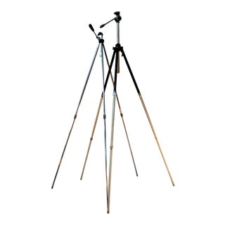 Vintage Adjustable Telescopic Camera Tripod - A Pair For Sale