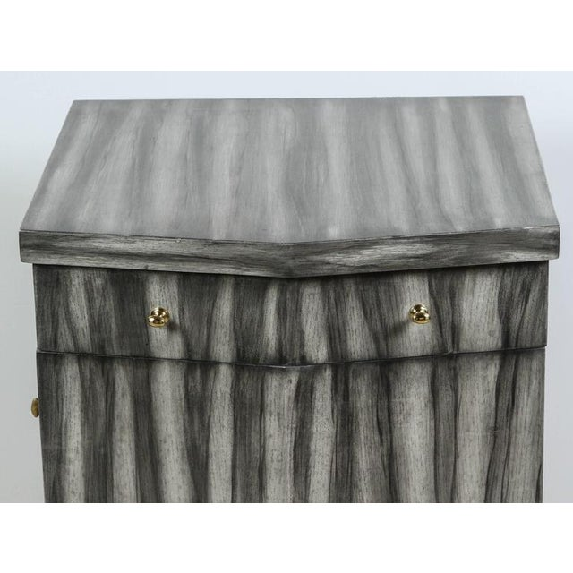 Contemporary Paul Marra Pinnacle Nightstand in Zebra Finish For Sale - Image 3 of 9