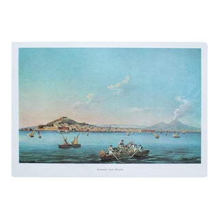 """1964 """"Naples From the Sea"""", Original Lithograph For Sale"""
