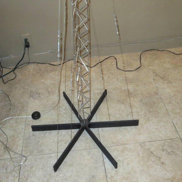 Mid-Century Modern Curtis Jere Large Size Crane Standing Lamp, Signed, 1977 For Sale - Image 3 of 8