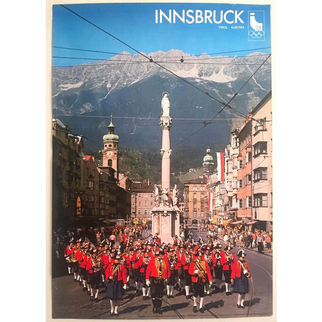"""Rare Vintage 1976 """" Innsbruck Tirol Olympics Winter Games """" Lithograph Print Austria Travel Poster For Sale - Image 13 of 13"""