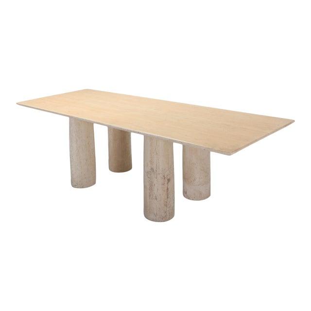 Travertine Dining Table by Mario Bellini 'Il Colonnato' For Sale